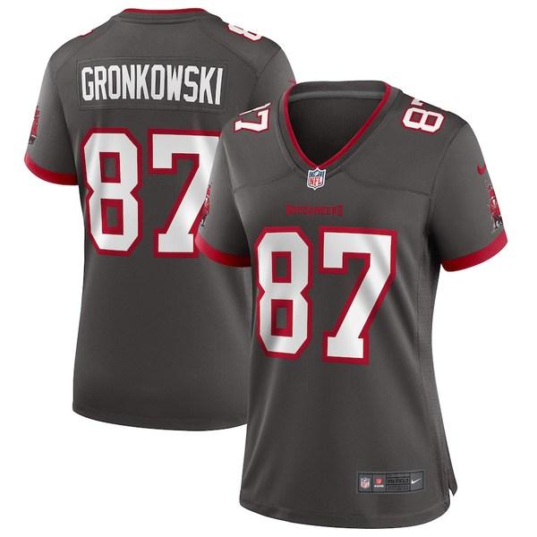 ナイキ レディース シャツ トップス Rob Gronkowski Tampa Bay Buccaneers Nike Women's Alternate Game Jersey Pewter