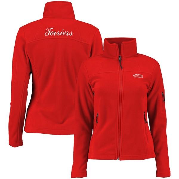 コロンビア レディース ジャケット&ブルゾン アウター Boston University Columbia Women's Give & Go Full-Zip Jacket Scarlet