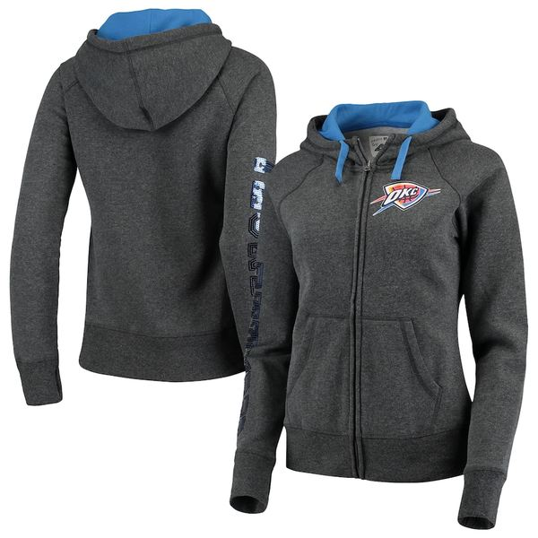 カールバンクス レディース ジャケット&ブルゾン アウター Oklahoma City Thunder G-III 4Her by Carl Banks Women's Playoff Suede Fleece Full-Zip Jacket Charcoal/Blue