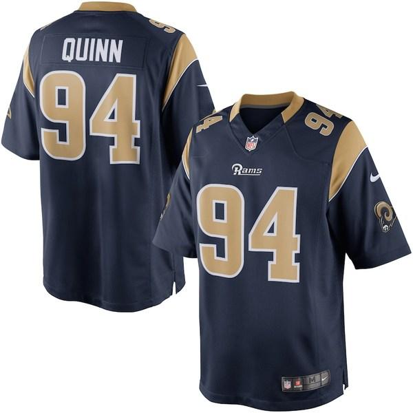 ナイキ メンズ シャツ トップス Robert Quinn Los Angeles Rams Nike Limited Jersey Navy