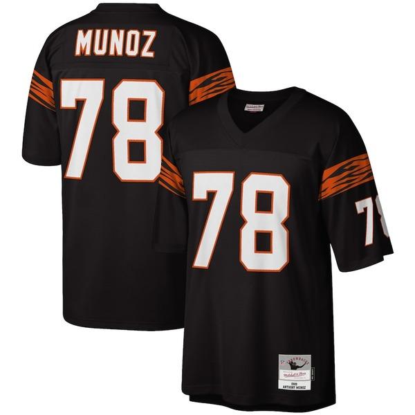 ミッチェル&ネス メンズ シャツ トップス Anthony Munoz Cincinnati Bengals Mitchell & Ness Legacy Replica Jersey Black