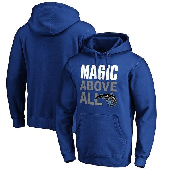 ファナティクス メンズ パーカー・スウェットシャツ アウター Orlando Magic Fanatics Branded Above All Pullover Hoodie Blue