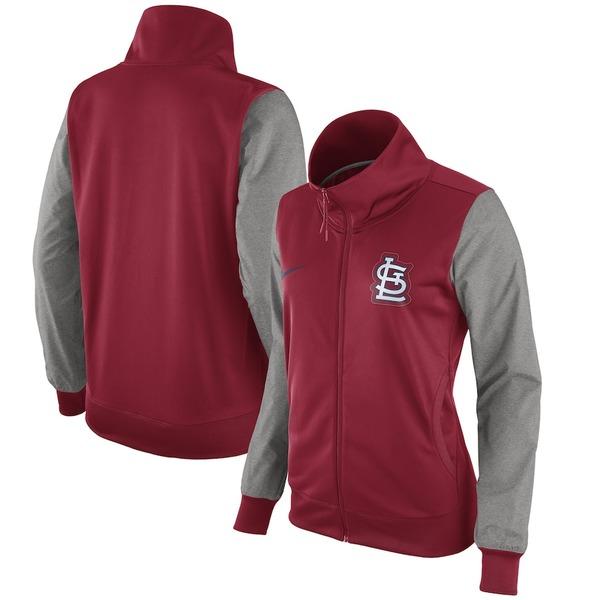 ナイキ レディース ジャケット&ブルゾン アウター St. Louis Cardinals Nike Women's Full-Zip Jacket Red