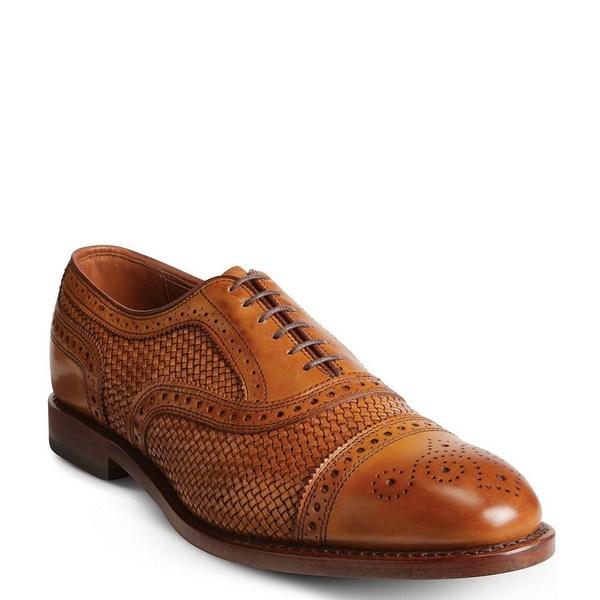 アレンエドモンズ メンズ シューズ NEW ドレスシューズ Walnut 新作からSALEアイテム等お得な商品 満載 Oxford Weave Men's Strand 全商品無料サイズ交換