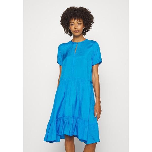 インウェア レディース トップス ワンピース pacificblue 全商品無料サイズ交換 贈与 オープニング 大放出セール qdie006e DRESS Day FEDORA dress -