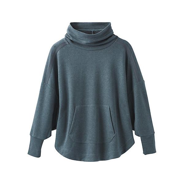 プラーナ レディース シャツ トップス Prana Women's Cozy Up Poncho Grey Blue Heather