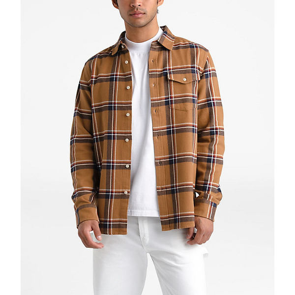 ノースフェイス メンズ シャツ トップス The North Face Men's Arroyo Flannel LS Shirt Cedar Brown Gully Plaid