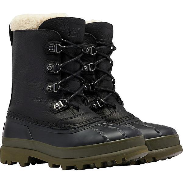 ソレル メンズ ブーツ&レインブーツ シューズ Sorel Men's Caribou Stack Waterproof Boot Black