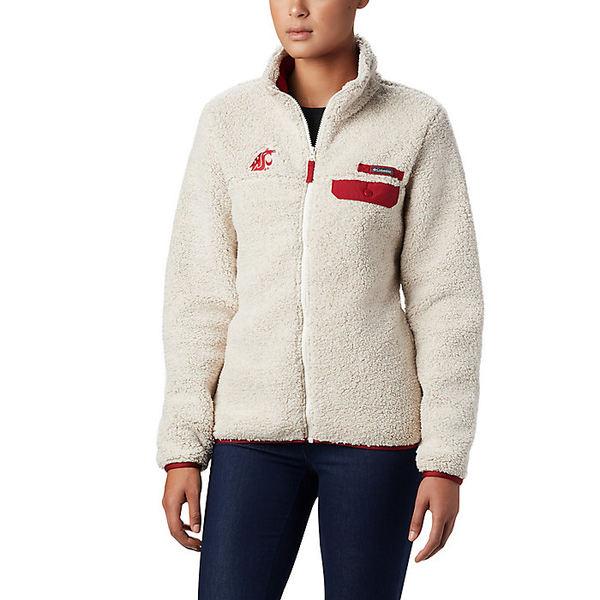 コロンビア レディース ジャケット&ブルゾン アウター Columbia Women's Collegiate Mountain Side Heavyweight Fleece Jacket Waz - Chalk / Red Velvet