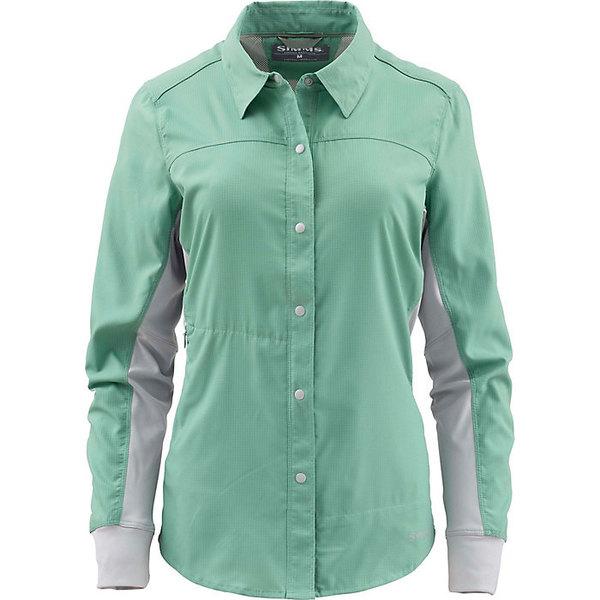 シムズ レディース シャツ トップス Simms Women's BiComp LS Shirt Seafoam