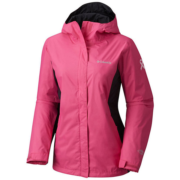コロンビア レディース ジャケット&ブルゾン アウター Columbia Women's Tested Tough in Pink Rain Jacket II Pink Ice / Black