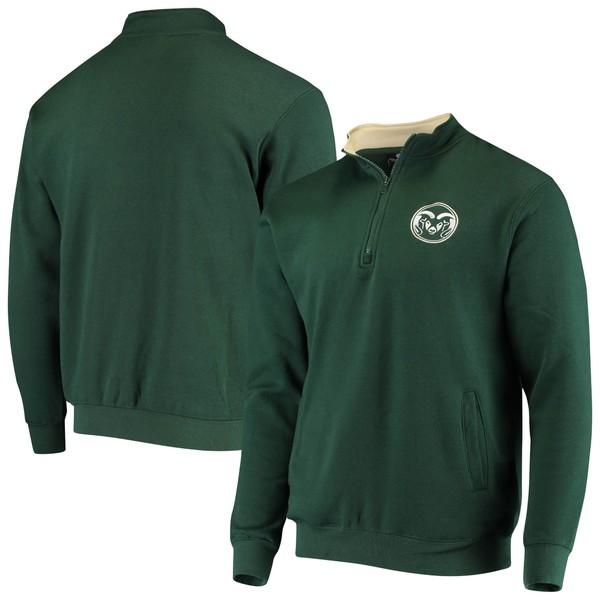 コロシアム メンズ ジャケット&ブルゾン アウター Colorado State Rams Colosseum Tortugas Logo QuarterZip Pullover Jacket Green