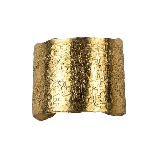 ナシェル レディース リング アクセサリー Medium Wander Cuff Ring Gold