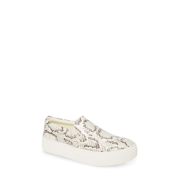 スティーブ マデン レディース サンダル シューズ Gills Platform Slip-On Sneaker Bone Snake