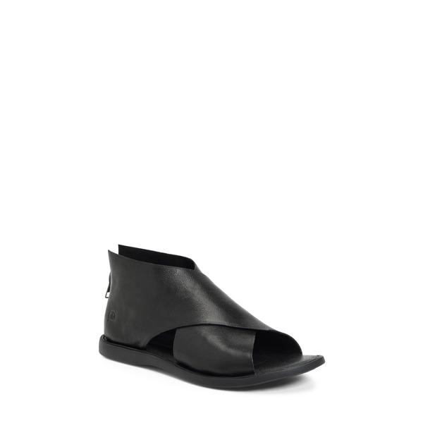 バーン レディース サンダル シューズ IWA Sandal Black Leather