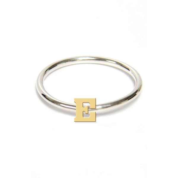ジェインバシュデザインズ レディース リング アクセサリー Two-Tone Initial Ring Gold- E