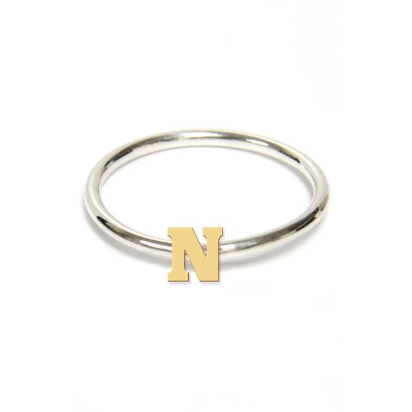 ジェインバシュデザインズ レディース リング アクセサリー Two-Tone Initial Ring Gold- N