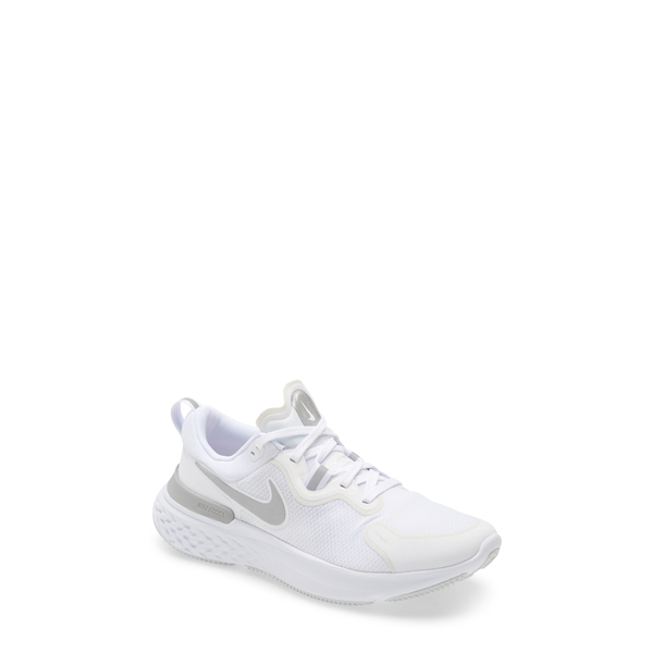 ナイキ レディース スニーカー シューズ React Miler Running Shoe White/ Silver/ Platinum