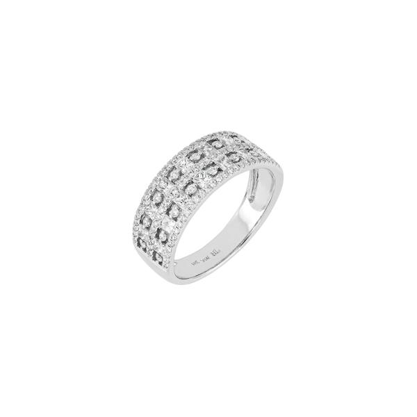 ボニー レヴィ レディース リング アクセサリー Diamond Band Ring White Gold