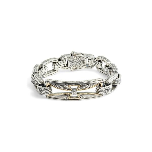 コンスタンティーノ メンズ ブレスレット・バングル・アンクレット アクセサリー Stavros Spinel Chain Bracelet Silver/ Gold