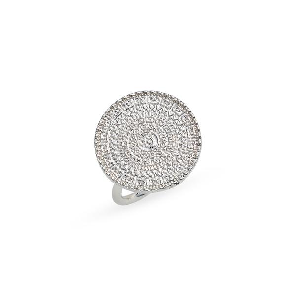 スターリングフォーエバー レディース リング アクセサリー Medallion Statement Ring Silver