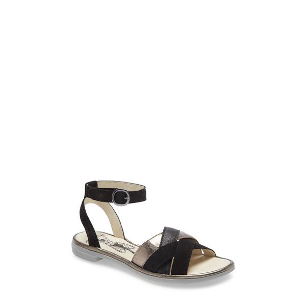 フライロンドン レディース サンダル シューズ Cune Sandal Black/ Bronze Leather