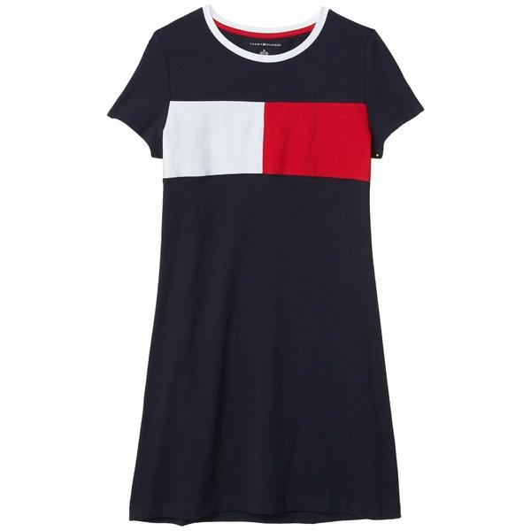 トミー ヒルフィガー レディース ワンピース トップス Flag Crew T-Shirt Dress Sky Captain