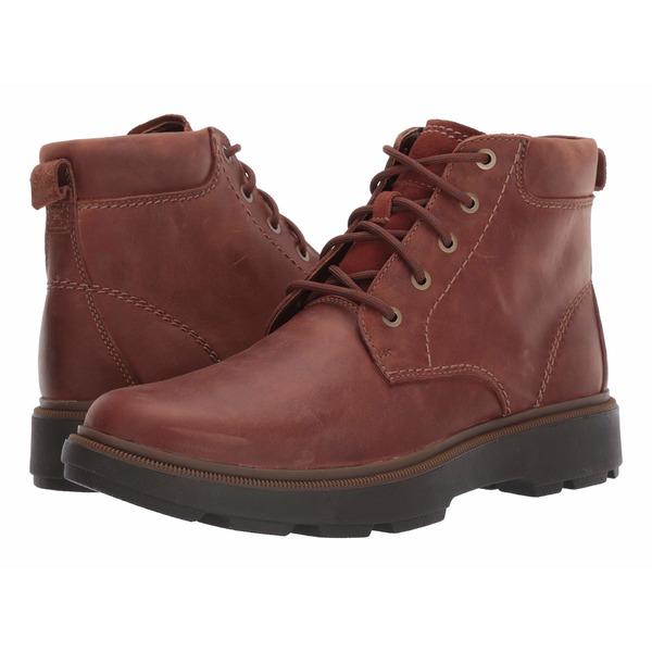 クラークス メンズ ブーツ&レインブーツ シューズ Dempsey Top Mahogany Leather