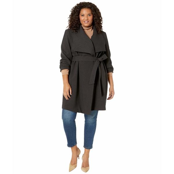 ラルフローレン レディース コート アウター Plus Size Drape Front Belted Coat Charcoal