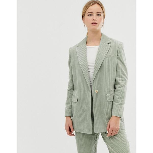 エイソス レディース ジャケット&ブルゾン アウター ASOS DESIGN sage cord tailored suit blazer Sage