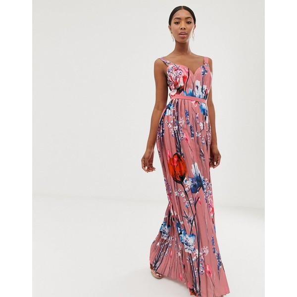 リトルミストレス レディース ワンピース トップス Little Mistress all over printed maxi dress in multi Multi