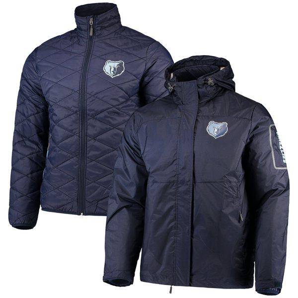 カールバンクス メンズ ジャケット&ブルゾン アウター Memphis Grizzlies GIII Sports by Carl Banks Acclimation 3in1 Systems FullZip Jacket Navy