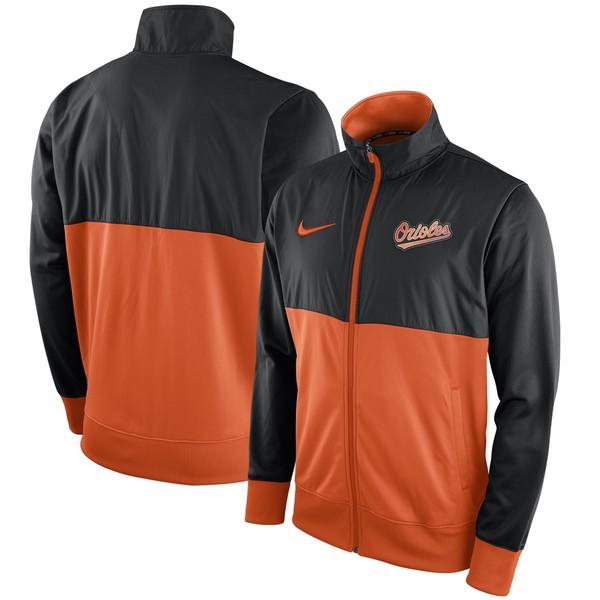 ナイキ メンズ ジャケット&ブルゾン アウター Baltimore Orioles Nike FullZip Track Jacket Black