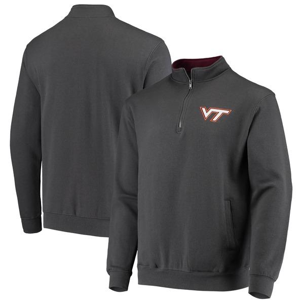 コロシアム メンズ ジャケット&ブルゾン アウター Virginia Tech Hokies Colosseum Tortugas Logo QuarterZip Jacket Orange