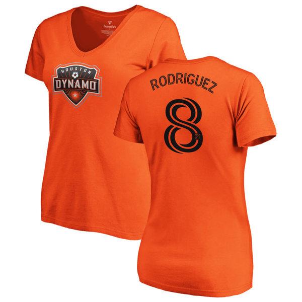 ファナティクス レディース Tシャツ トップス Houston Dynamo Fanatics Branded Women's Personalized Authentic Name & Number VNeck TShirt Orange
