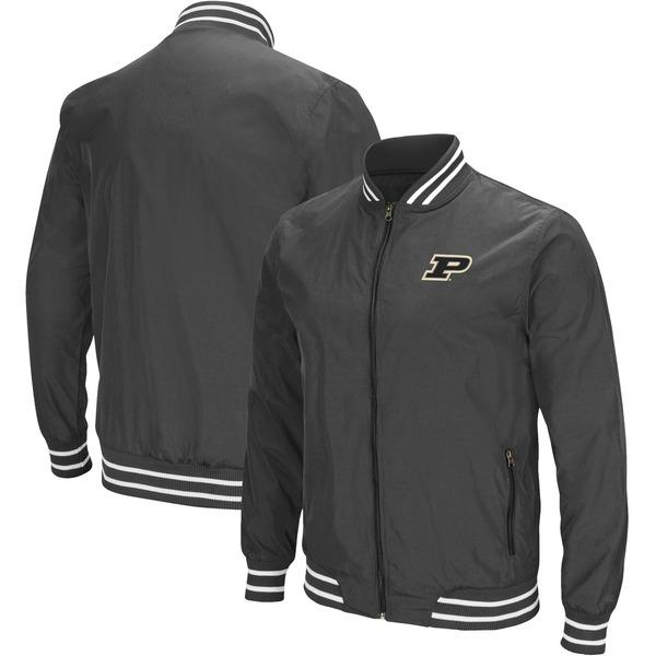 コロシアム メンズ ジャケット&ブルゾン アウター Purdue Boilermakers Colosseum Blade Full Zip Jacket Charcoal
