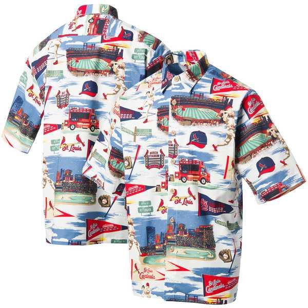 レインスプーナー メンズ シャツ トップス St. Louis Cardinals Reyn Spooner Scenic ButtonUp Shirt White