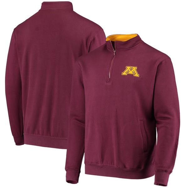 コロシアム メンズ ジャケット&ブルゾン アウター Minnesota Golden Gophers Colosseum Tortugas Logo QuarterZip Jacket White