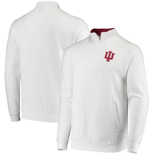 コロシアム メンズ ジャケット&ブルゾン アウター Indiana Hoosiers Colosseum Tortugas Logo QuarterZip Pullover Jacket Heathered Gray