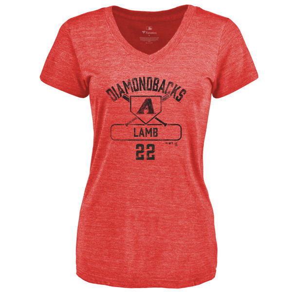 ファナティクス レディース Tシャツ トップス Arizona Diamondbacks Fanatics Branded Women's Personalized Base Runner TriBlend TShirt Red