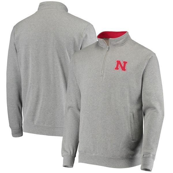 コロシアム メンズ ジャケット&ブルゾン アウター Nebraska Cornhuskers Colosseum Tortugas Logo QuarterZip Pullover Jacket Charcoal