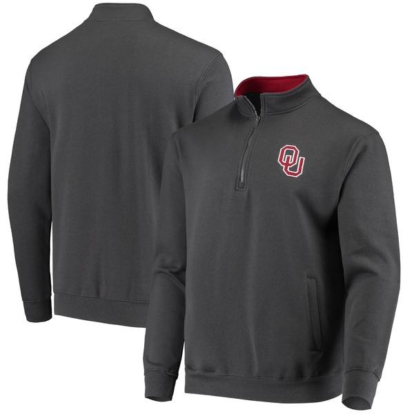 コロシアム メンズ ジャケット&ブルゾン アウター Oklahoma Sooners Colosseum Tortugas Logo QuarterZip Jacket Crimson