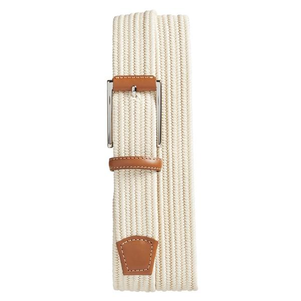 トリノ メンズ ベルト アクセサリー Torino Woven Belt Cream