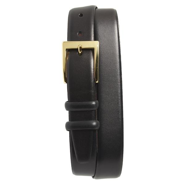 トリノ メンズ ベルト アクセサリー Torino Double Buckle Leather Belt Black