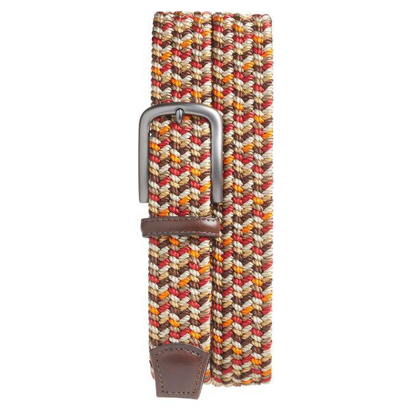 トリノ メンズ ベルト アクセサリー Torino Woven Belt Red Multi