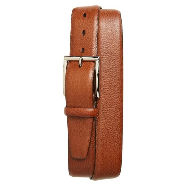 トリノ メンズ ベルト アクセサリー Torino Calfskin Leather Belt Brandy