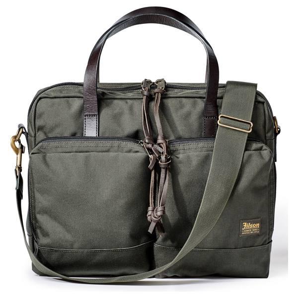 フィルソン メンズ ビジネス系 バッグ Filson Dryden Briefcase Otter Green
