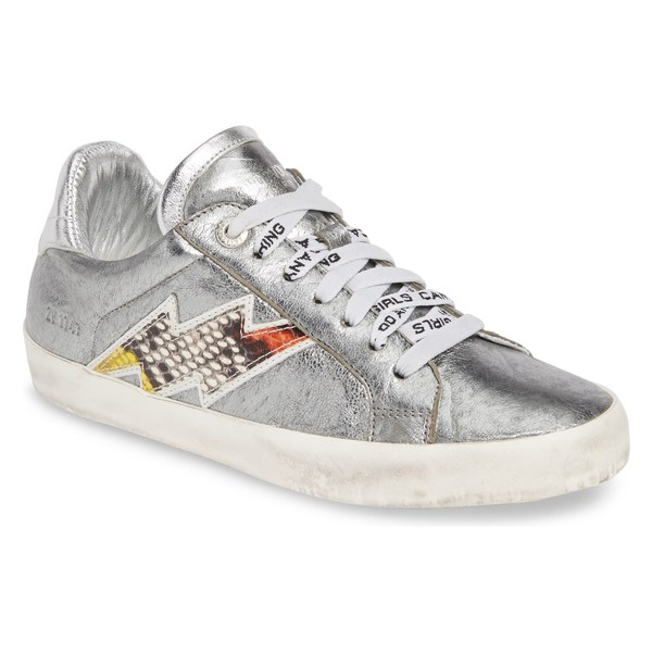 ザディグ エ ヴォルテール レディース スニーカー シューズ Zadig & Voltaire Flash Ace Sneaker (Women) Silver