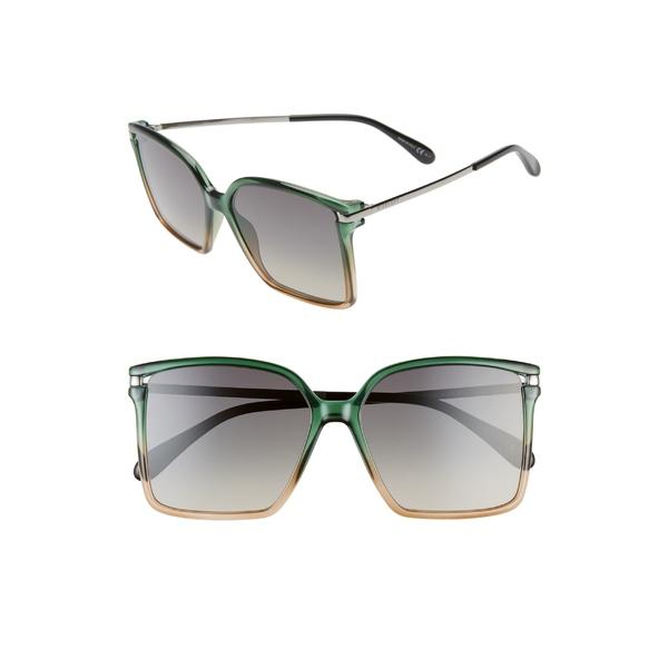 ジバンシー レディース サングラス&アイウェア アクセサリー Givenchy 57mm Square Sunglasses Green Pea Pink