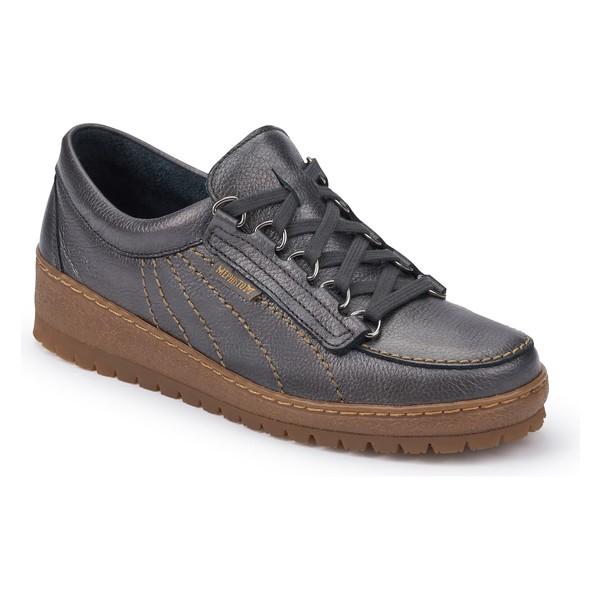 メフィスト レディース スニーカー シューズ Mephisto Lady Low Top Sneaker (Women) Graphite Leather